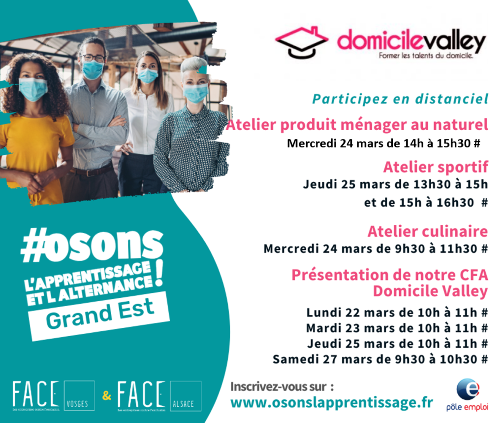 salon apprentissage domicile valley